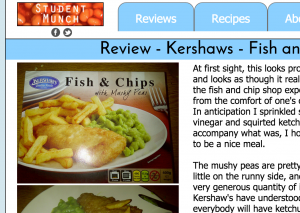 Kershaw's Fish & Chips with Mushy Peas review